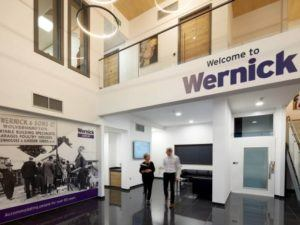 Wernick Head Office Swiftplan Building Double Heigh Atrium Reception